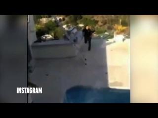 Американский миллионер сбросил с крыши в бассейн голливудскую порноактрису